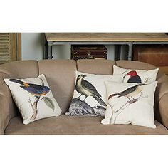 Pokrywa poduszki len i bawełna z dekoracji ptaków (zestaw 4) – EUR € 41.24