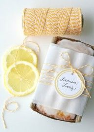 lemon loaf - white and yellow twine