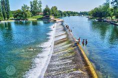 Korana river in Karlovac, Croatia