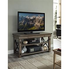 Altra Wildwood Rustic Grey Wood Veneer 50-inch TV Stand
