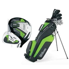 WILSON Linear Mens R-Hand Complete Golf Club Set w/ Bag