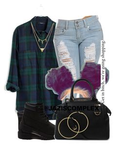 """""""Untitled #85"""" by jaziscomplex ❤ liked on Polyvore featuring Madewell, Timberland, Michael Kors, Melissa Odabash and Edge of Ember"""