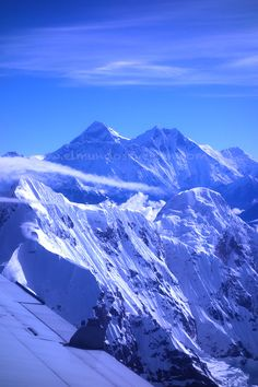 El Monte Everest Top Of The World, Wonders Of The World, Monte Everest, Mountain Village, Snow Mountain, Natural Scenery, Winter Photography, Mountaineering, Amazing Destinations