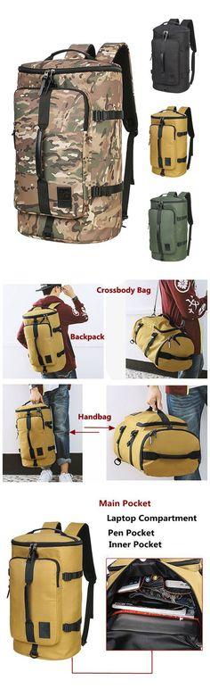[$39.19]  40L Big Capacity Travel Backpack Water Repellent Oxford Outdoor Bag For Men