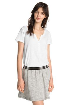 Esprit / Knopfleisten-Shirt aus 100% Baumwolle