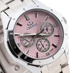 Hot sale Lady Women Quartz Wristwatch Watch Crystal Rhinestone Stainless Steel Band Bracelet Bangle Round Pink Dial Silver #>=#>=#>=#>=#> Click on the pin to check out discount price, color, size, shipping, etc. Save and like it!