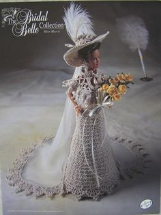 Annie's Attic Bridal Belle Fashion Bed Doll Crochet Pattern Miss March