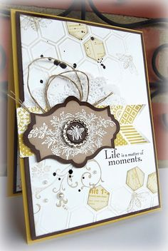 ≗ The Bee's Reverie ≗  honeycomb embossed card   Everything Eleanor