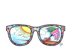 Fun day in the sun with these sunglasses! Super fun to color rajz Sunglasses coloring page Summer Crafts For Toddlers, Toddler Crafts, Art For Kids, Summer Art Projects, Cool Art Projects, Elementary Art Rooms, Dream Catcher Boho, Art Plastique, Coloring Pages