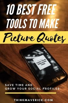 Check out this list of 10 best tools that allow you to transform your texts and photos into beautiful picture quotes quickly. Many of them are 100% free or at least offer a free trial. Don't require any graphic design skill. Save your time. You can easily create quote images, pictures, photos online. Are you ready to tell a story, inspire your audience, share your thoughts and beliefs with quote graphics? #socialmedia #instagram #quotes #visualcontent #visualcontentcreation #graphicdesign Instagram Quotes, Instagram Tips, Social Media Trends, Social Media Marketing, Motivational Quotes For Success, Inspirational Quotes, Create Quotes, Instagram Marketing Tips, Make Pictures