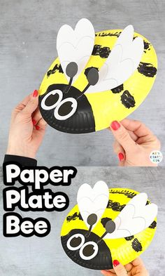 Paper Plate Bee Craft: Looking for a simple paper plate craft to try with the kids? Have a go at our easy bee craft for kids and turn your unused item Bee Crafts For Kids, Bug Crafts, Summer Crafts, Toddler Crafts, Preschool Crafts, Arts And Crafts, Insect Crafts, Resin Crafts, Bee Activities