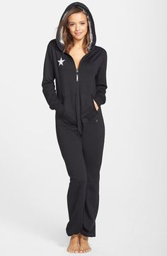 California Creative Republic Lounge Jumpsuit with Faux Fur Lined Hood available at #Nordstrom
