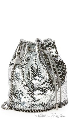 "Regilla ⚜ Stella McCartney, ""Falabella"" snake-print bucket bag"