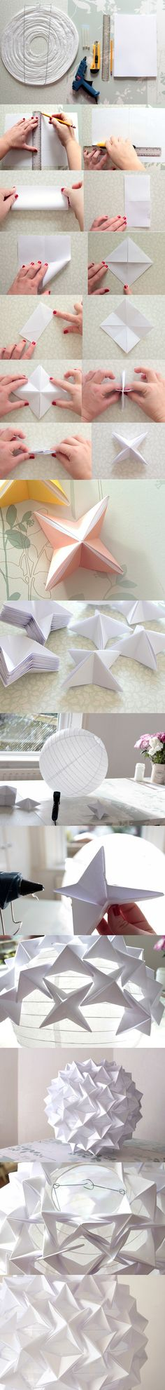 20 Ideas for origami lamp diy deco Crafts To Do, Diy Crafts, Origami And Kirigami, Diy Origami, Diy Lampe, Paper Art, Paper Crafts, Idee Diy, Paper Lanterns