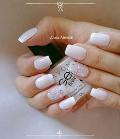 This nail art includes everything from intricate designs to a simple one color set up with high quality nail lacquer. SIMILAR natural summer pink nails design for short NEXT→→→ Nail Art Designs, Square Nail Designs, Nails Design, Joy Nails, Bridal Nail Art, French Tip Nails, Square Nails, Nail Trends, Nail Manicure
