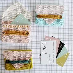 Crochet Diy, Crochet Home, Love Crochet, Crochet Gifts, Crochet Things, Crochet Wallet, Crochet Purses, Knitting Projects, Crochet Projects