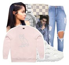 """"""""""" by ayeeitsdessa ❤ liked on Polyvore featuring beauty, Louis Vuitton, Marc by Marc Jacobs, NIKE and October's Very Own"""