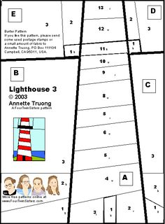 free lighthouse quilt pattern - Google Search