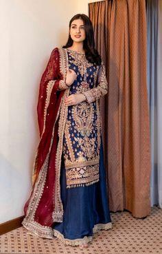 Pakistani Fashion Party Wear, Pakistani Wedding Outfits, Bridal Outfits, Dress Indian Style, Indian Dresses, Indian Outfits, Stylish Dress Designs, Stylish Dresses, Fashion Dresses