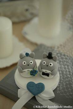 Totoro wedding cake topper   Flickr - Photo Sharing!
