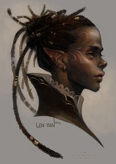 golden eyed elf by len-yan on deviantART
