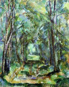 Paul Cézanne - Avenue at Chantilly, 1888