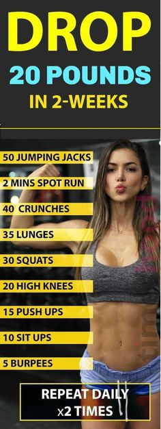 Lose 20 Pounds in 2 Weeks With 9 Best Weight Loss Workouts at Home. If you goal is to lose more that 10 pounds in a weeks these exercises is for you to get toned, slim and perfect summer body. week Diet Lose 20 Pounds in 2 Best Weight Loss Workouts Quick Weight Loss Tips, Weight Loss Help, Losing Weight Tips, Weight Loss Program, How To Lose Weight Fast, Weight Gain, Reduce Weight, Diet Plan For Weight Loss, Reto Fitness
