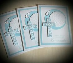 Stampin up! Stamp set blessing festivals Source by kriegercorinna Quilling, First Communion Cards, Confirmation Cards, Stampin Up Catalog, Christmas Cards To Make, Get Well Cards, Sympathy Cards, Stamping Up, Baby Cards