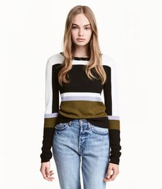 casual Colour-block jumper, great styling - H&M