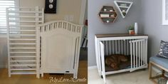 (paid link) DIY Dog Crate | This DIY Dog Crate Furniture Piece Is Easy to Make and Surprisingly Chic ... The crown jewel in my living room is the crate for my pup that looks ... #diydogcrate Dog Crate Furniture, Diy Outdoor Furniture, Repurposed Furniture, Steel Furniture, Furniture Ideas, Reclaimed Furniture, Table Furniture, Vintage Furniture, Painted Furniture