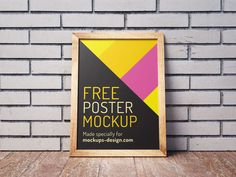 Poster Free PSD Mockup help you to showcase your design. File consist Smart Object. Thank you for download!