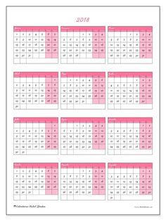 2018para imprimir, livre. Calendário anual : Renatus (Sf). A semana começa na segunda-feira