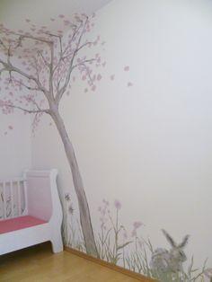 Mädchenzimmer Louise, Tags Kinderzimmer + Wandmalerei + Wandgestaltung + Mödchenzimmer