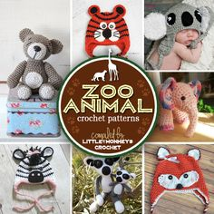 Roundup: 7 Wildly Fun Zoo Animal Crochet Patterns | compiled by Little Monkeys Crochet