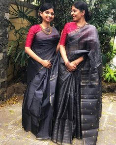 New shade alert! Featuring our grey shade kanchi organza - the shade we are crushing on. Indian Designer Outfits, Indian Outfits, Indian Clothes, Designer Dresses, Silk Saree Kanchipuram, Kanchi Organza Sarees, Handloom Saree, Cutwork Saree, Grey Saree