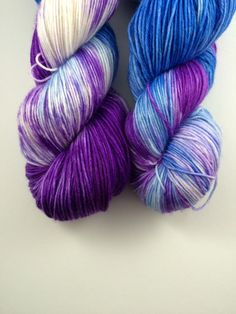 Fingering weight Hand dyed extra fine merino by FlockandNeedle