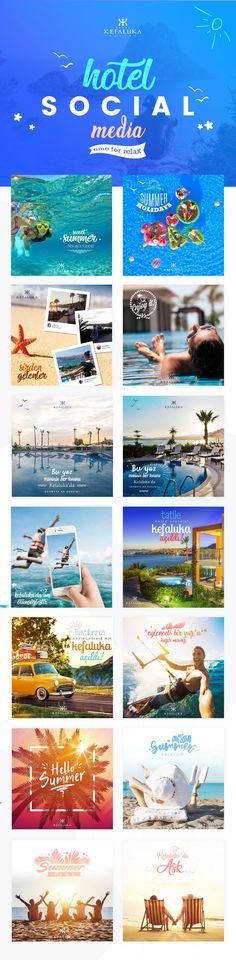 Resort Hotel Social Media - Travel - Beach Design on Behance - Travel interests Hotel Advertisement, Hotel Ads, Social Media Poster, Social Media Design, Social Media Template, Strand Design, Beach Design, Travel Design, New Travel