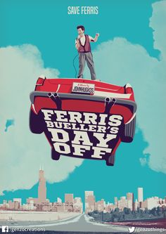Ferris Bueller's Day Off Poster Print Wall Art Ferris Bueller, Fan Poster, Movie Poster Art, Poster Layout, Poster Wall, Movie Prints, Poster Prints, Movie Poster Template, Save Ferris