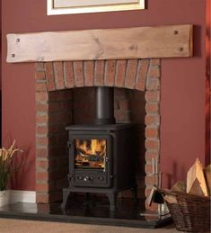 The Firefox 5 Cleanburn Wood Burning and Multi Fuel Stove is one of the newest additions to the Gallery range of stoves. The Firefox 5 can burn both wood and coal and has been tested to Defra so can be used in smoke controlled areas. Its robust looks a Exposed Brick Fireplaces, Solid Fuel Stove, Living Room Lounge, Living Rooms, Stove Fireplace, Log Burner, Traditional Interior, Wood Burning