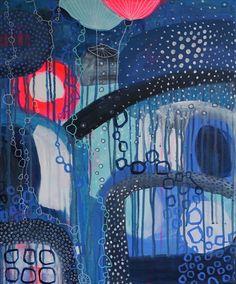 Diese farbenfrohe und witzige Acrylmalerei ist ein Original, 50x60cm groß und gleichermaßen abstrakt wie verspielt. Ein Gute- Laune Bild auch an Regentagen. Seht es euch gleich noch genauer an.