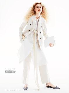 Aliz Menyhert pose for Harper's Bazaar Netherlands Magazine April 2016 issue