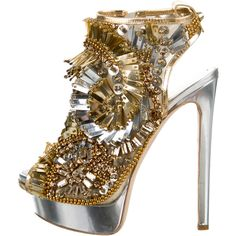 Pre-owned Dsquared? Bead-Embellished Platform Booties ($425) ❤ liked on Polyvore featuring shoes, boots, ankle booties, beige ankle booties, peep-toe ankle booties, peep-toe boots, peep toe boots and zipper boots