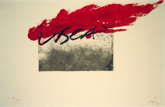 Artist: Antoni Tàpies, title Visca, technology: Etching, aquatint