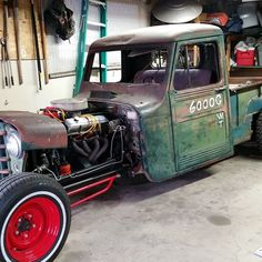 """""""My neighbor knows what it's all about. #hotrod #ratfink #willysjeep"""""""