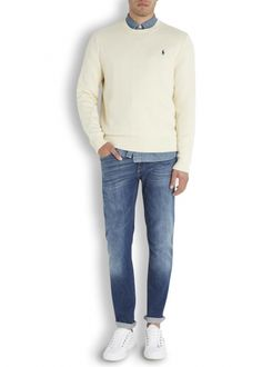 e39386f92f3 Super Skinny Jeans · Mens cream Ralph Lauren Jumper/Sweater #mensfashion  Ralph Lauren Jumper, Cream Jumper,