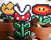 Cool! Super Mario hama beads potted plant