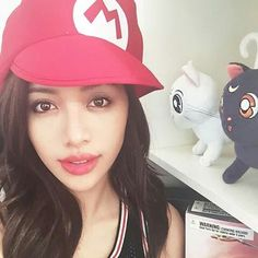 Michelle phan Michelle Phan, Youtubers, Baseball Hats, Beauty, Beautiful, Style, Fashion, Swag, Moda