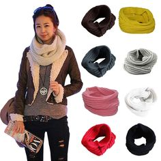 >> Click to Buy << Ladies Girls All-match Winter Warm Knitting Wool Collar Neck Warmer Scarf Shawl Wraps 88 FS99 #Affiliate