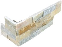 Ledger Stone tiles are mesh mounted, stacked planks of natural slate or quartzite. Create a bold, eye-catching fireplace, backsplash or feature wall. with Ledger Stones. Slate Wall Tiles, Outdoor Tiles, Indoor Outdoor, Corner Garden, Garage Walls, 6 Pack, Color Tile, Gray Color, Stone Houses