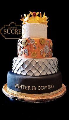Game of Thrones wedding cake! Winter is Coming wedding theme